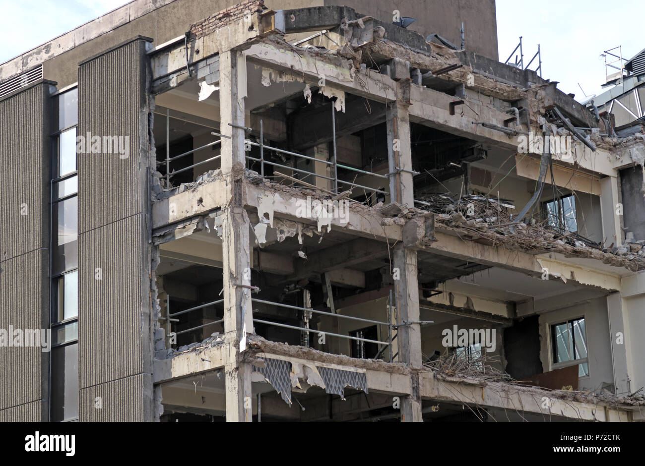 Consort House demolition, Queen Street, Glasgow, City Centre, Scotland, UK,  G1 3DD - Stock Image