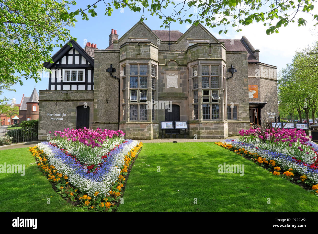 Port Sunlight Museum, Port Sunlight Village, Lower Rd, Bebington, Wirral, North West England, UK,  CH62 5EQ - Stock Image