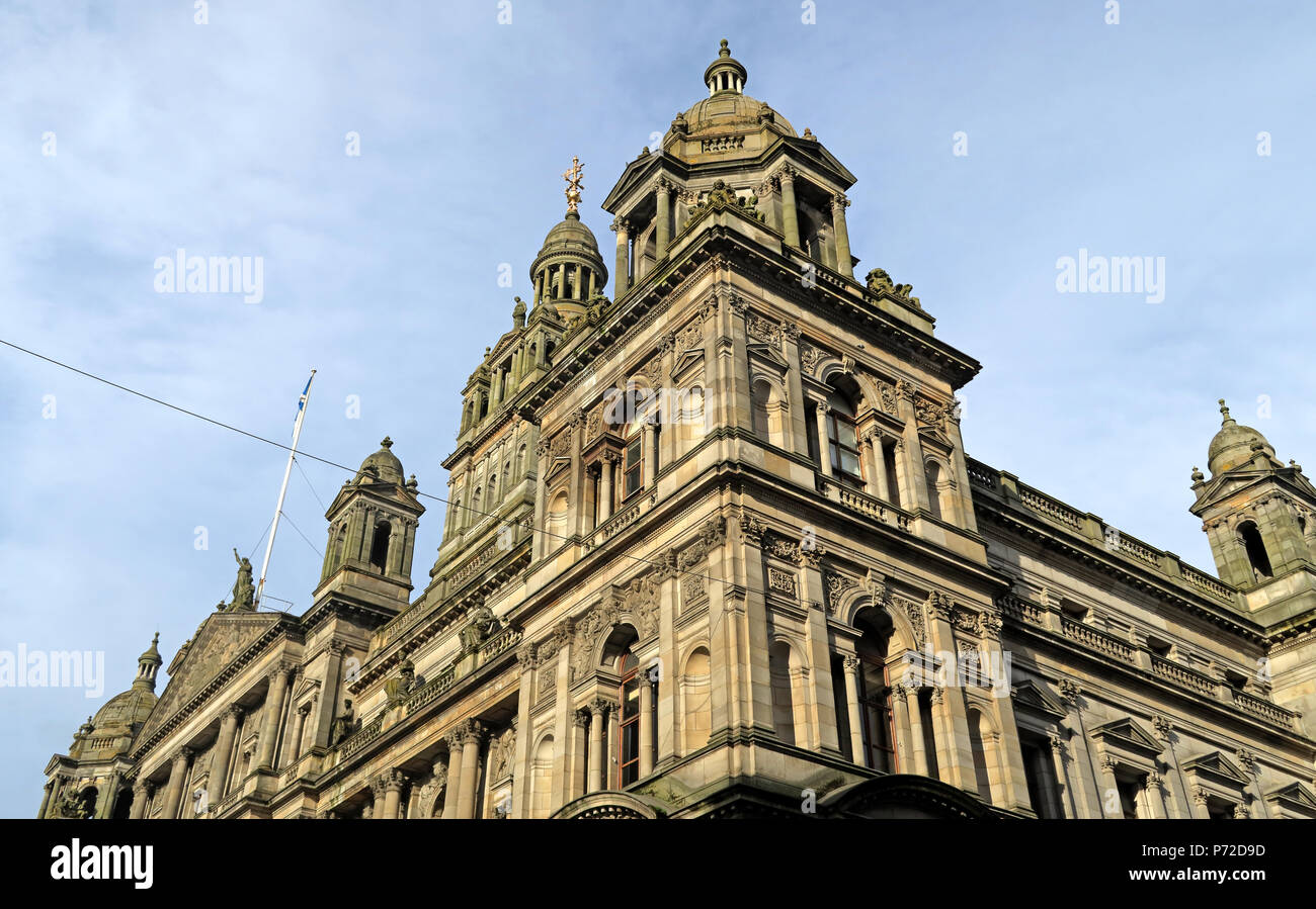 City Chambers, Glasgow City Council, George Square,Scotland, UK Stock Photo
