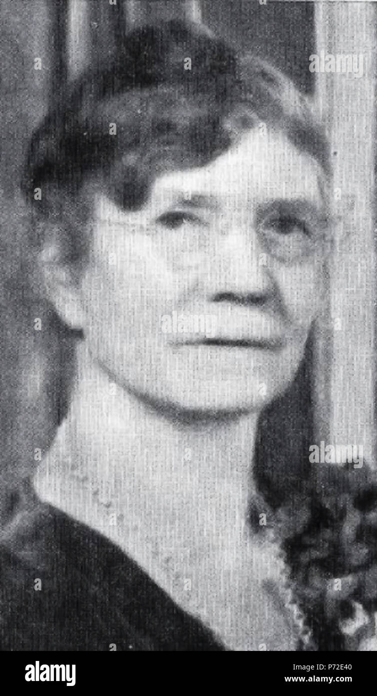 English: Photo of Ruth May Fox, a nineteenth century English-born women's rights activist and the third general president of what is today the Young Women organization of The Church of Jesus Christ of Latter-day Saints (LDS Church). 1936 12 Ruth May Fox Stock Photo
