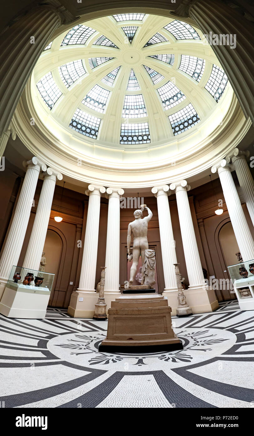 Antinous,Statue at Lady Lever Art Gallery, Port Sunlight Village, Lower Rd, Bebington, Wirral, North West England, UK,  CH62 5EQ - Stock Image