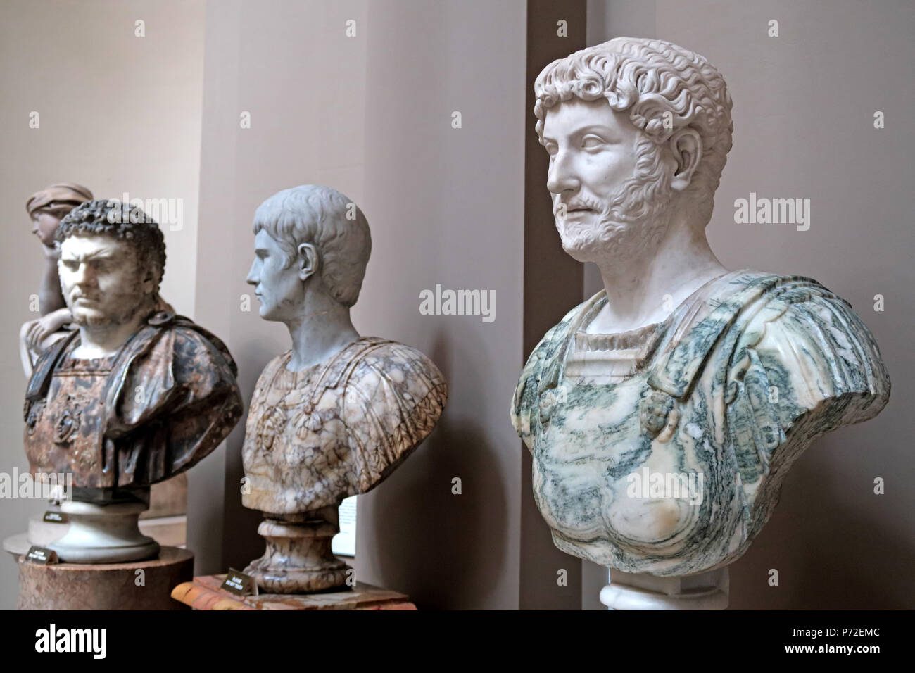 Busts at Lady Lever Art Gallery, Port Sunlight Village, Lower Rd, Bebington, Wirral, North West England, UK,  CH62 5EQ Stock Photo