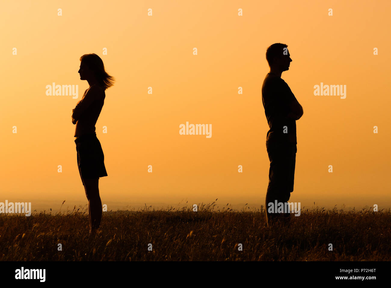 Relationship difficulties - Stock Image