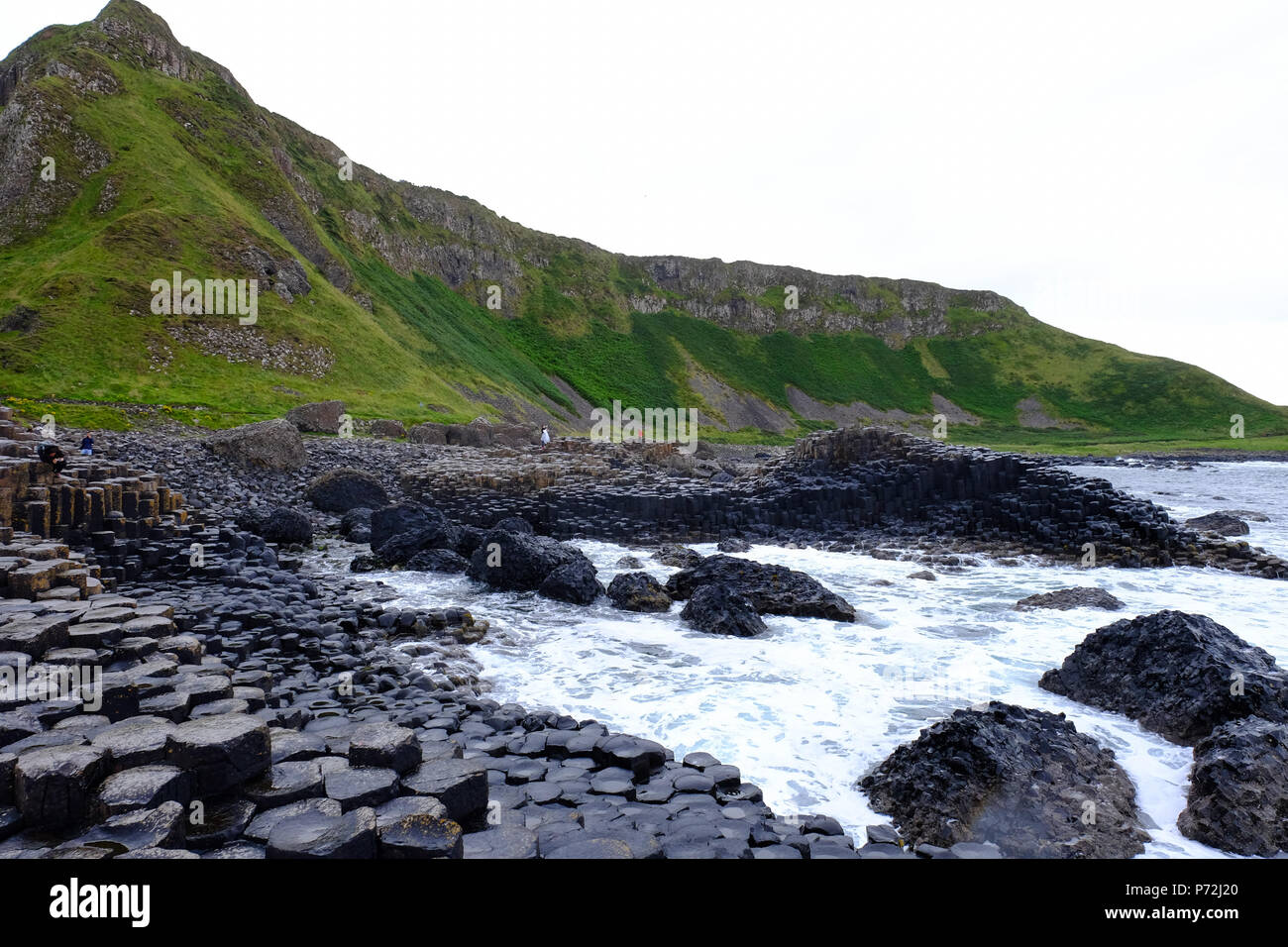 Giant's Causeway, UNESCO World Heritage Site, Bushmills, County Antrim, on the north coast of Northern Ireland. Ulster, Northern Ireland, UK - Stock Image