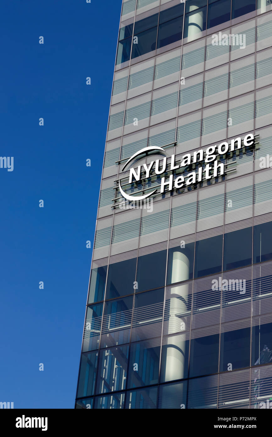 The NYU Langone Health/Hospital Logo on the newly