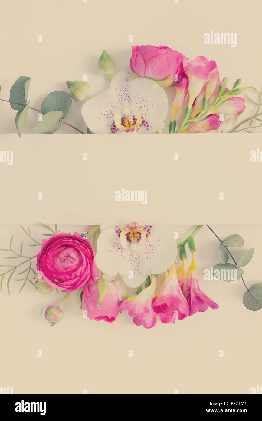 flowers layout for cards wedding invitation posters save the date
