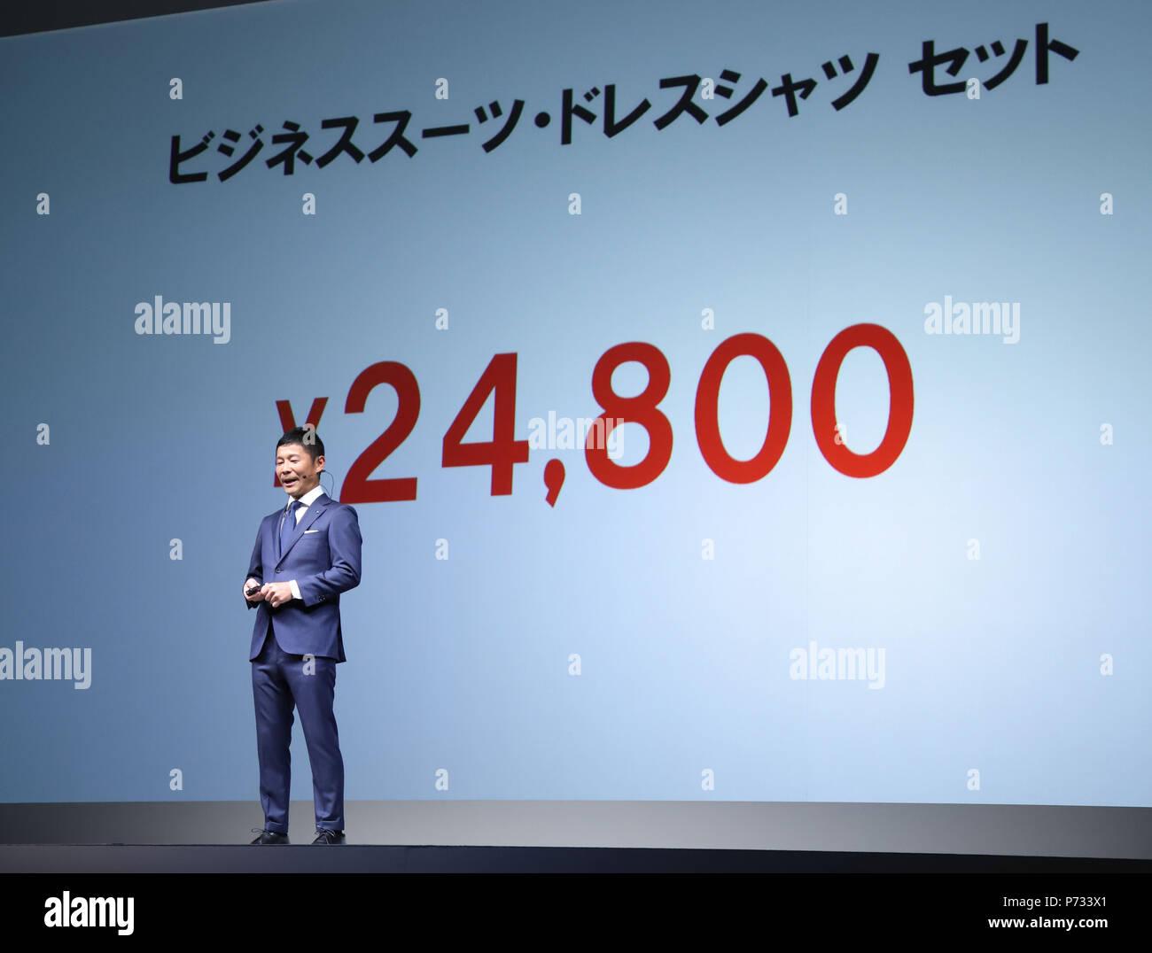 Tokyo, Japan  3rd July, 2018  Japan's online fashion website