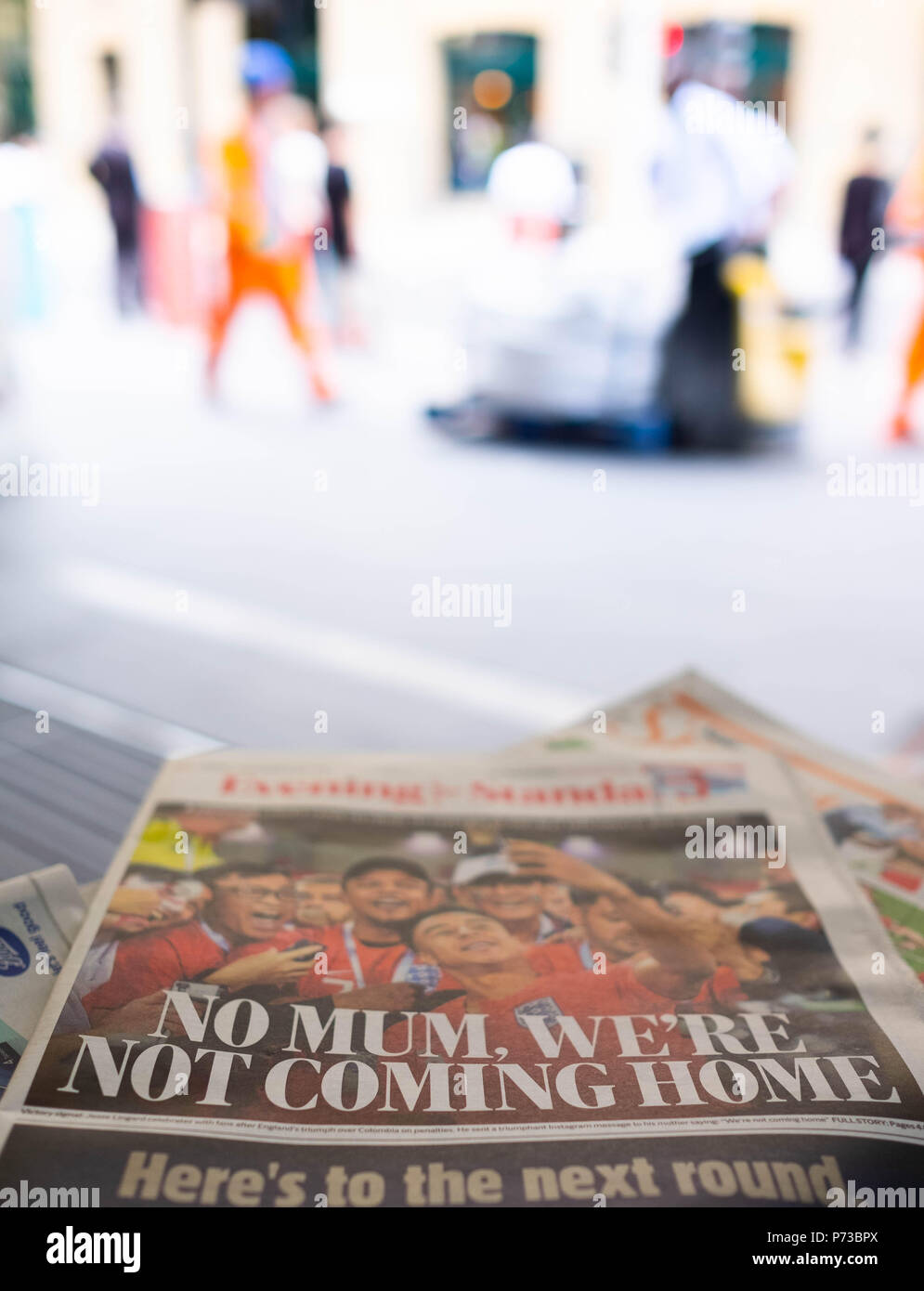London England 4th July 2018 The Newspaper Headlines About The