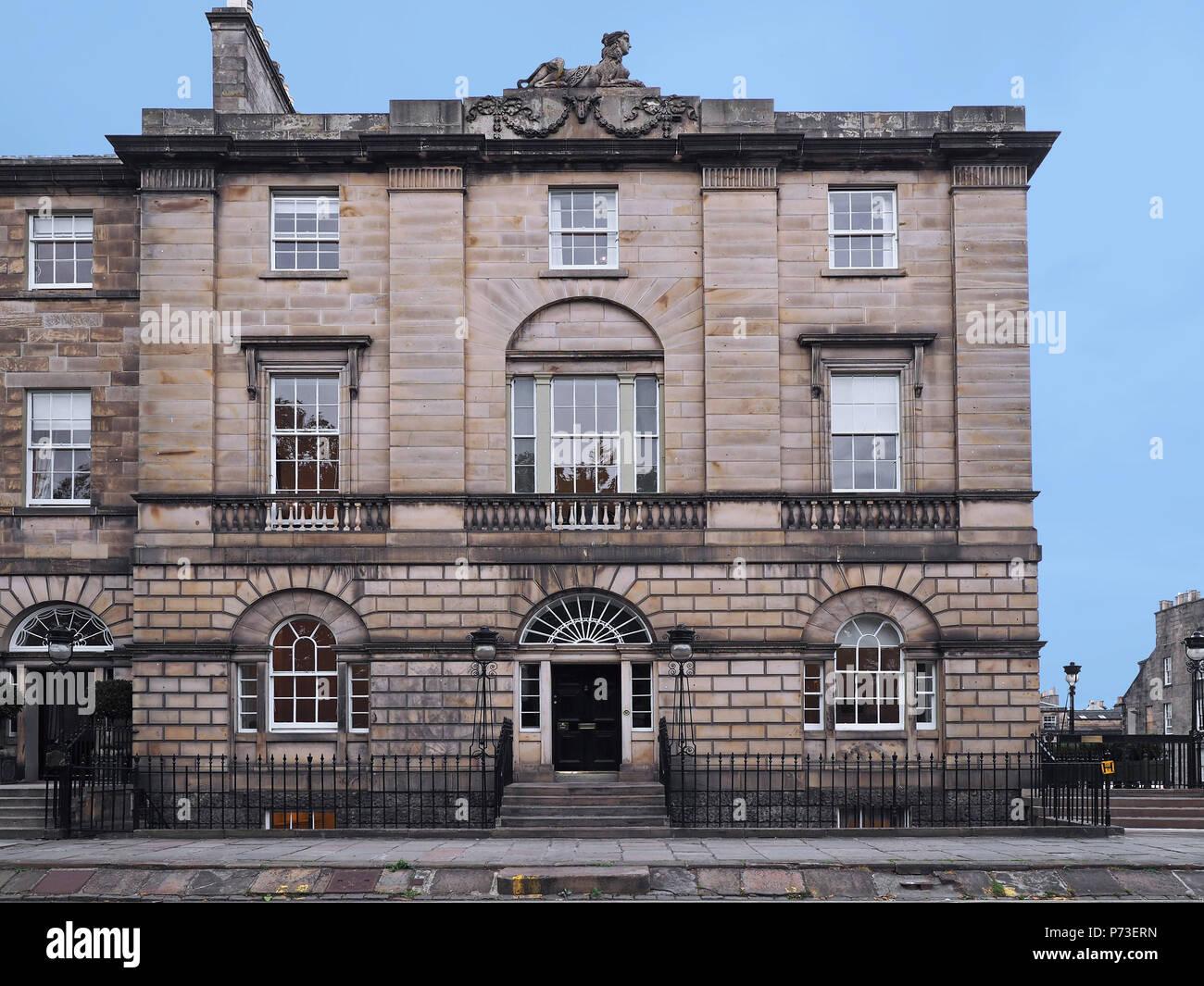 Edinburgh Georgian townhouse, Charlotte Square - Stock Image