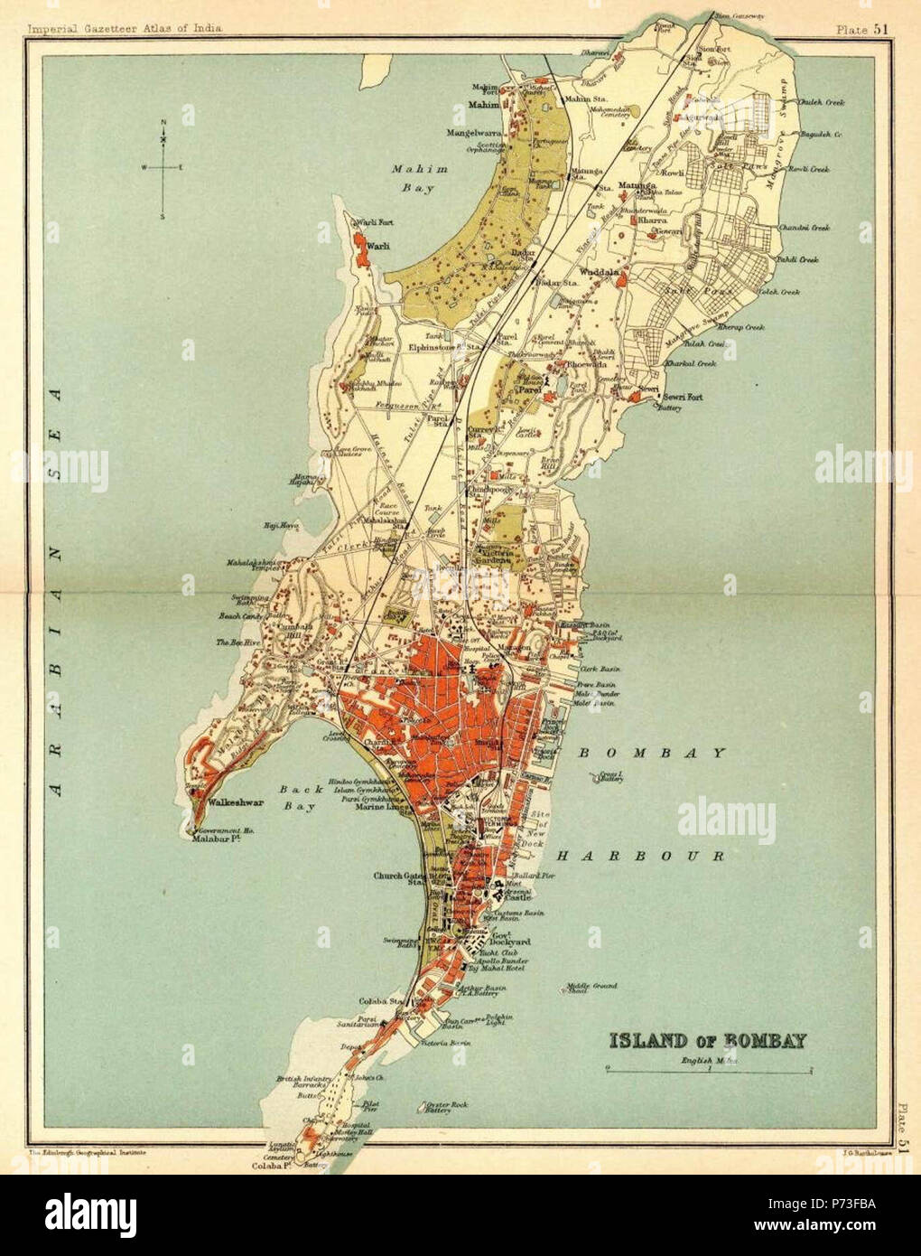 1b92eaa7204 The presidency town of Bombay (shown here in a 1908 map) was established in  1684.