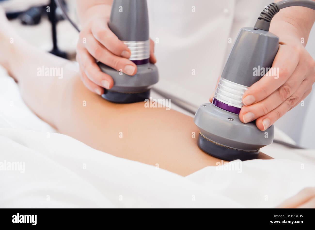 Body care  Ultrasound cavitation body contouring treatment