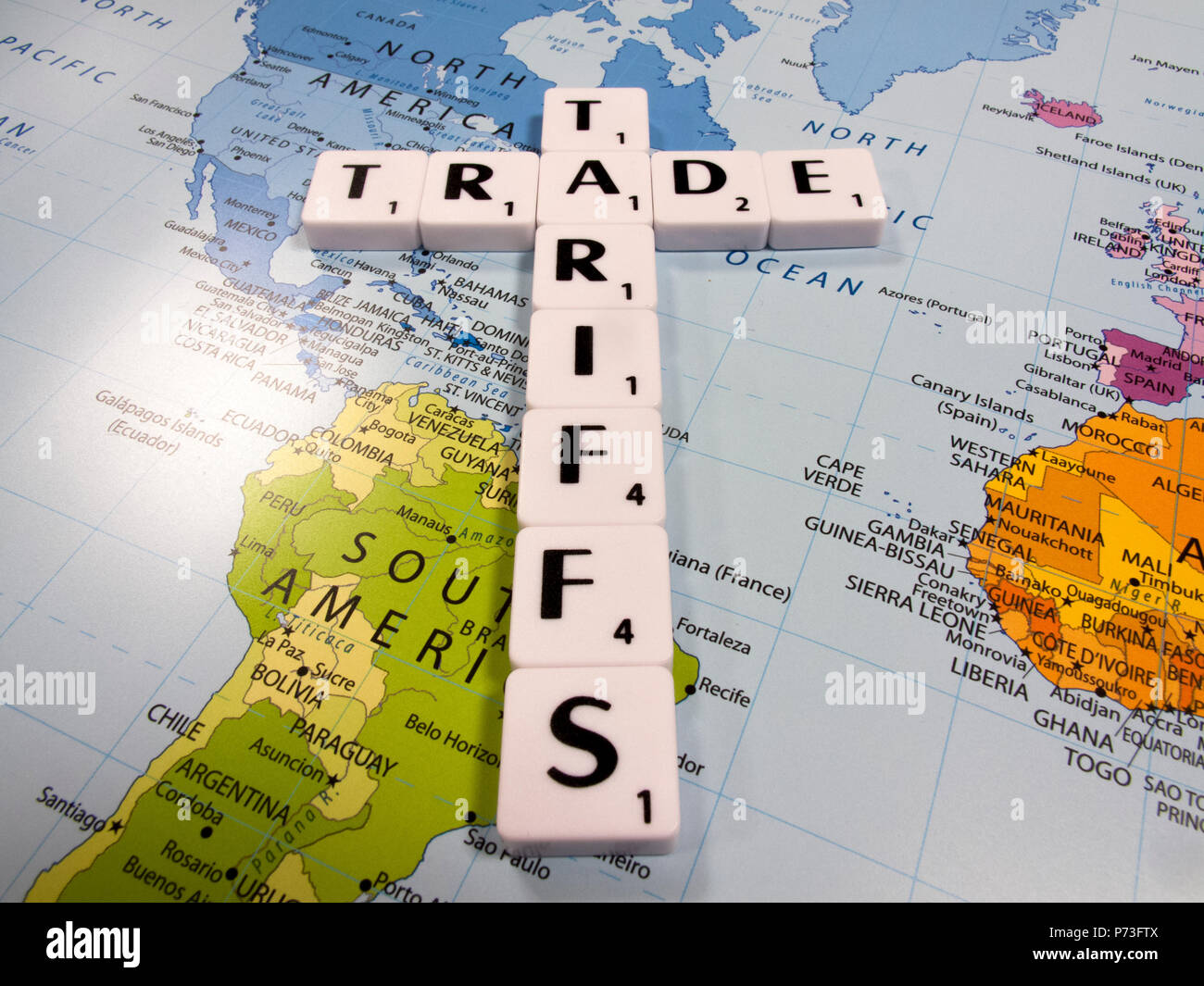 representation of trade tariffs imposed by the United States of