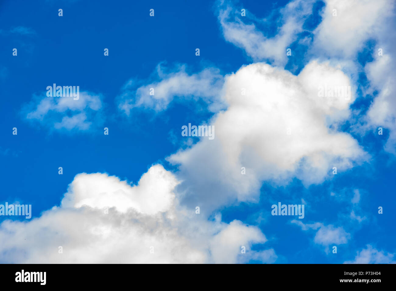 Beautiful clouds with blue sky background  Nature weather, cloud