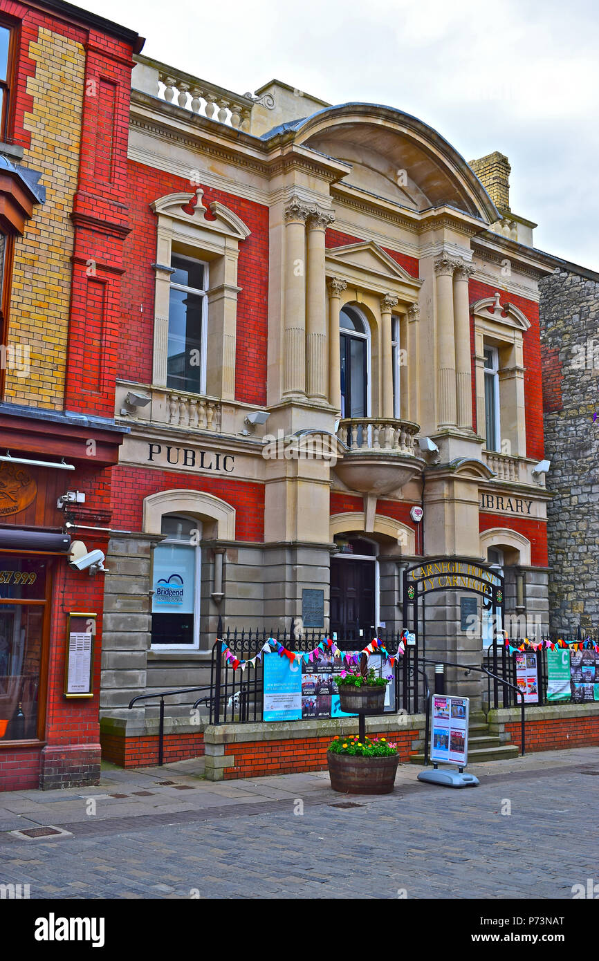 Carnegie House, Bridgend. Built in 1907 as a library with a substantial donation of £2000 from Andrew Carnegie the Scottish-American philanthropist. - Stock Image