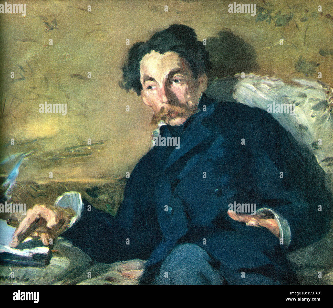 Stéphane Mallarmé, born Étienne Mallarmé, 1842 – 1898.  French symbolist poet and critic.  After a contemporary print. - Stock Image
