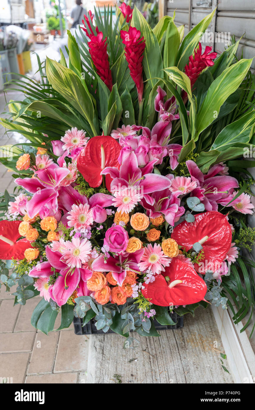 Big bouquet of fresh flowers ready for delivery stock photo big bouquet of fresh flowers ready for delivery izmirmasajfo