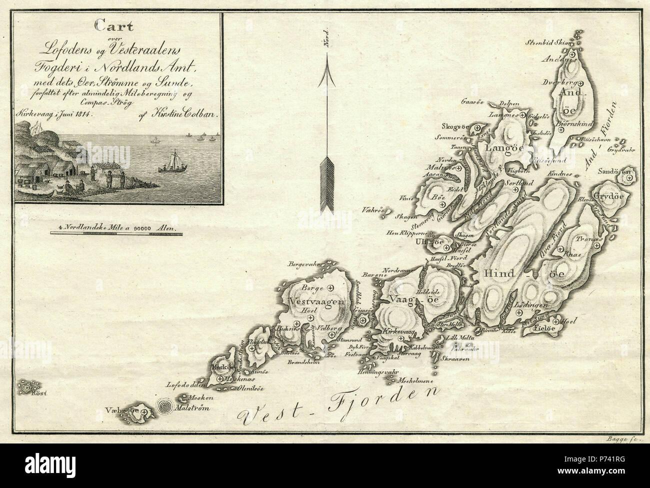 kart over lofoten og vesterålen Kart over Lofoten og Vesterålen   Map of Lofoten and Vesterålen  kart over lofoten og vesterålen