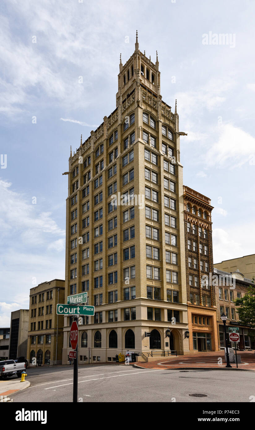 The Jackson Building in downtown Asheville, North Carolina - Stock Image