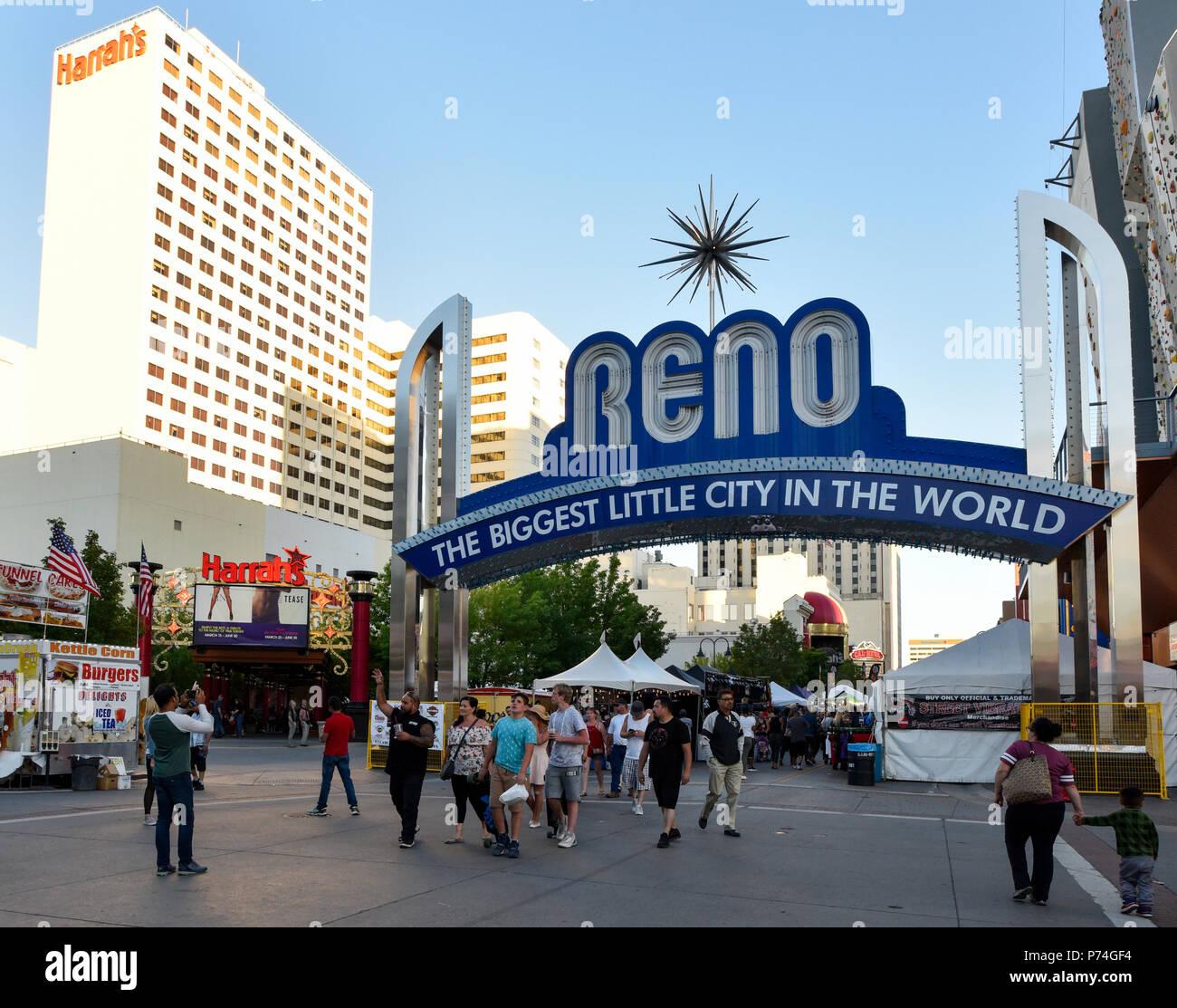 Reno Nevada skyline - Stock Image