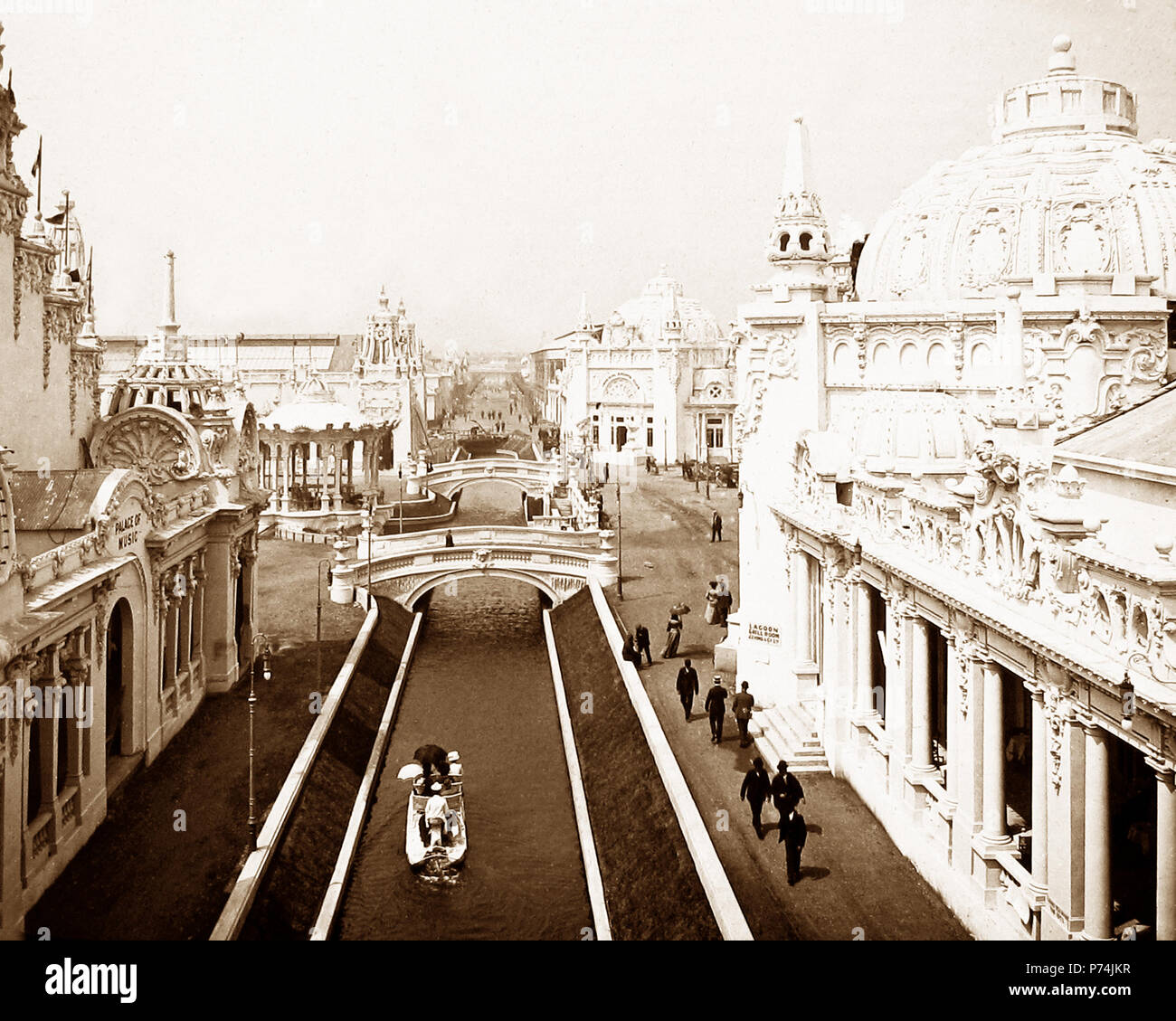 The Imperial Sports Club and Palace of Music, The Franco-British Exhibition at White City, London, in 1908 - Stock Image