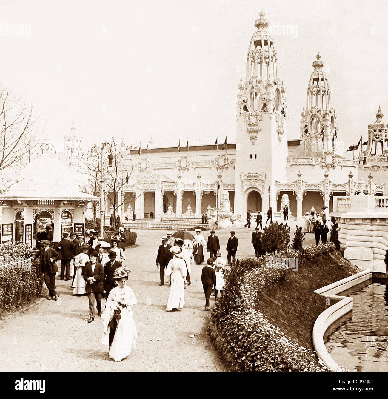 The Palace of Women's Work, The Franco-British Exhibition at White City, London, in 1908 - Stock Image