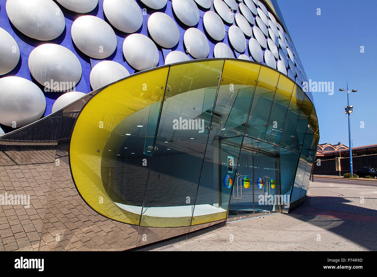 Birmingham, UK: June 29, 2018: Side view of Selfridges Department Store in Park Street - part of the Bullring Shopping Centre. - Stock Image