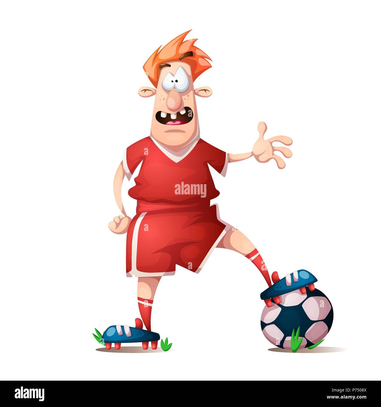 Football Cartoon High Resolution Stock Photography And Images Alamy