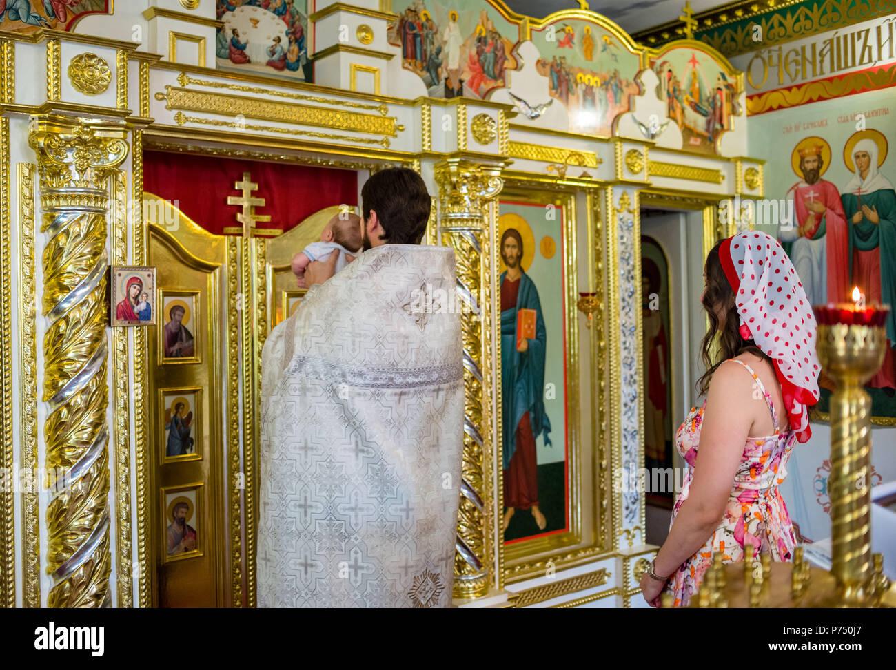 Odessa, Ukraine. July 27, 2017. The Church. Sacrament of Baptism Church. heavenly gates. - Stock Image