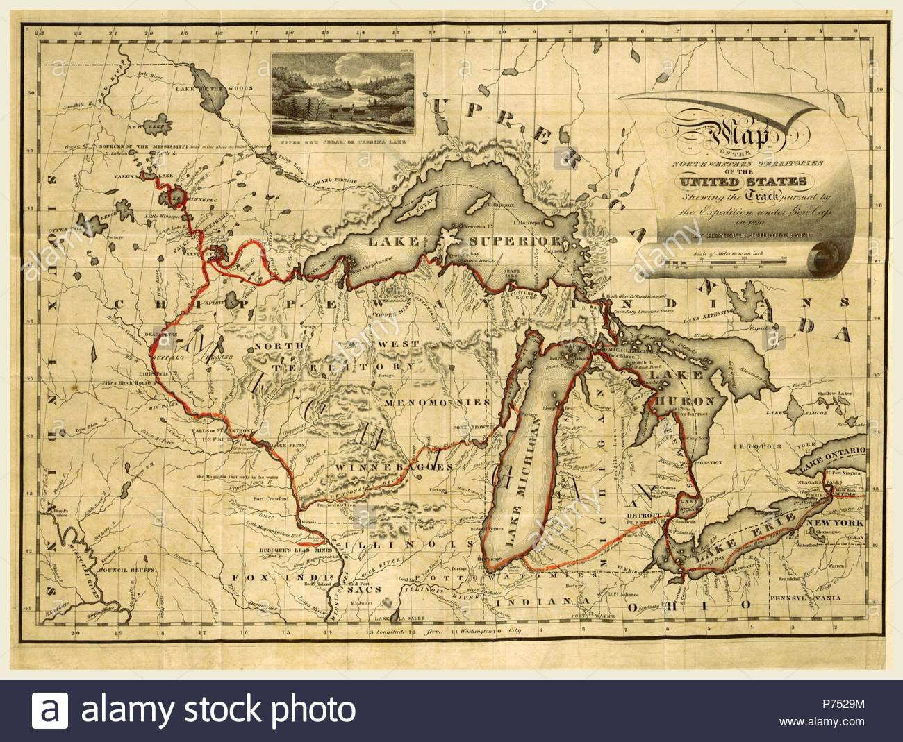 Map Of America 1820.Narrative Journal Of Travels Through The North Western Regions Of