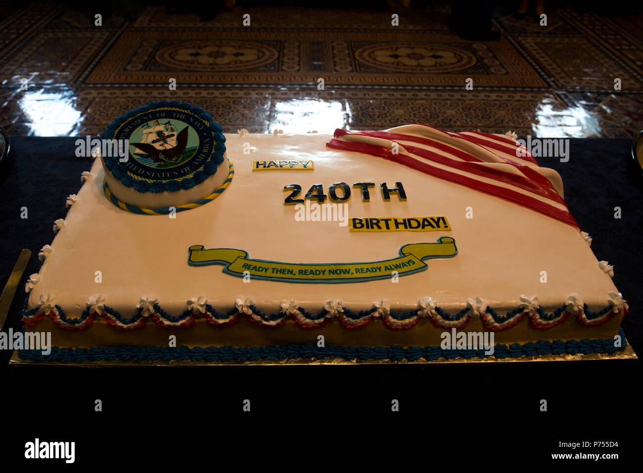 Washington Dc October 13 2015 The Cake For The Navy Birthday