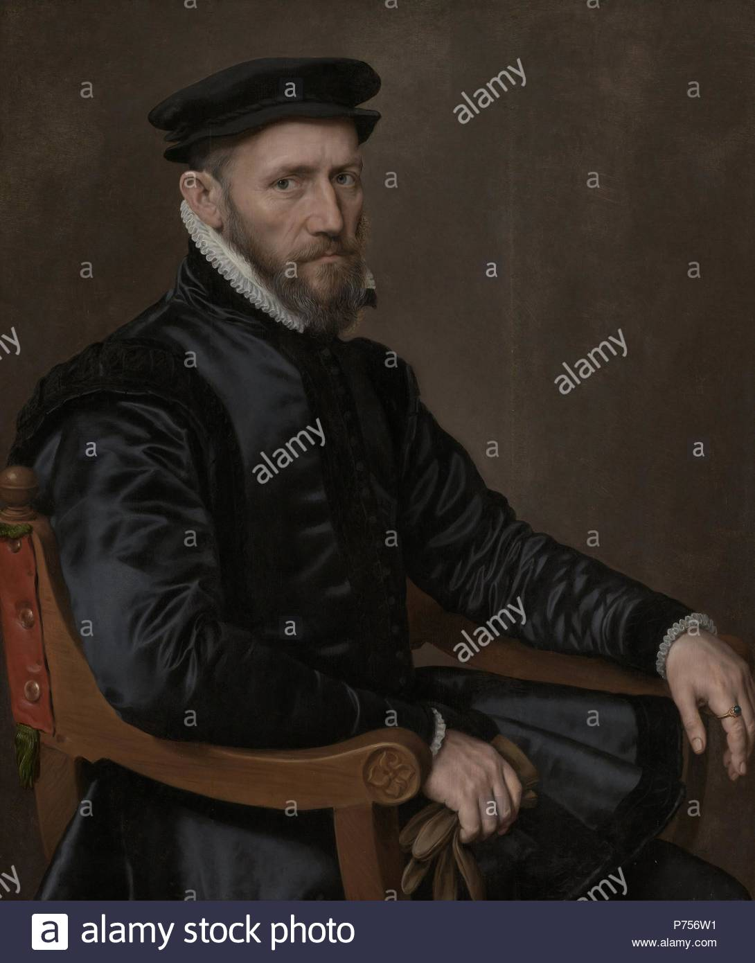 Portraits of Sir Thomas Gresham and Anne Fernely, Anthonis Mor, c. 1560 - c. 1565. - Stock Image