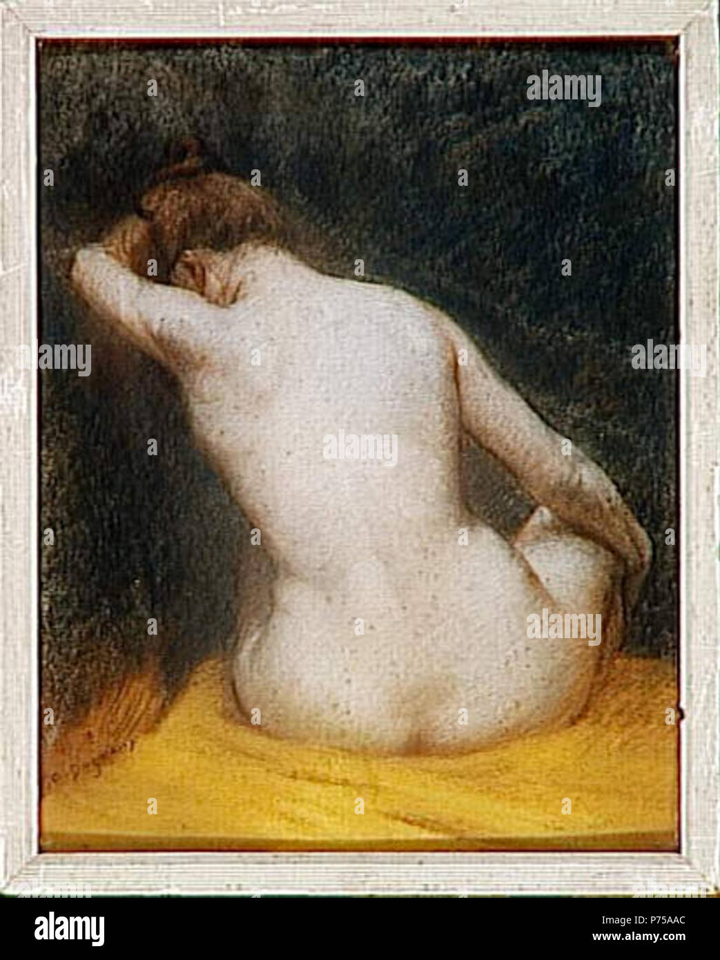 Anais Nue albert dagnaux femme nue assise stock photos & albert