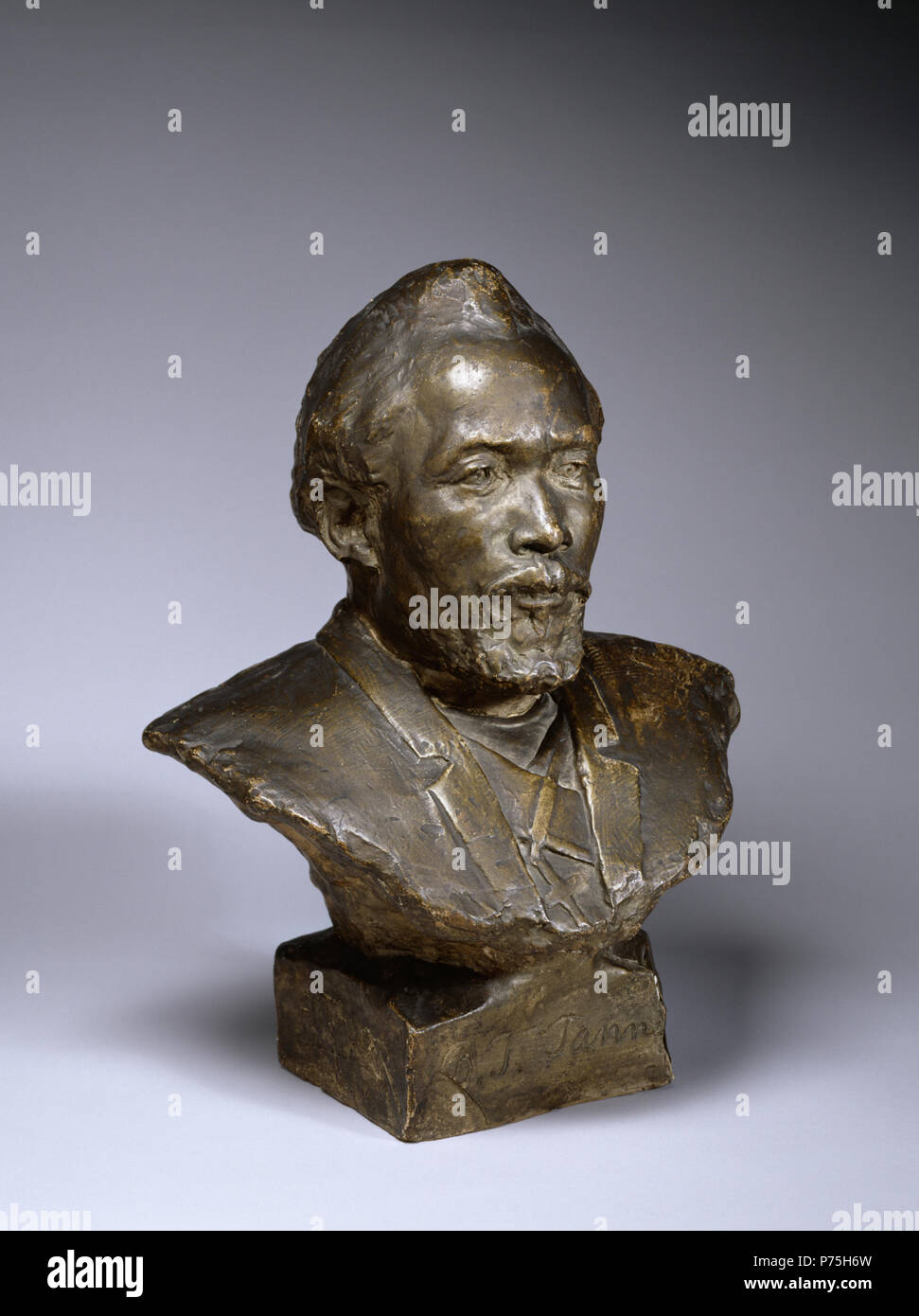 Henry Ossawa Tanner (American, 1859-1937). 'Bust of Benjamin Tucker Tanner,' 1894. patinated plaster. Walters Art Museum (28.33): Museum purchase with funds provided by the Eddie and Sylvia Brown Challenge Grant for the Acquistion of African American Art and the estate of Anna Fehl, 2004. 140 Henry Ossawa Tanner - Bust of Benjamin Tucker Tanner - Walters 2833 - Three Quarter Stock Photo