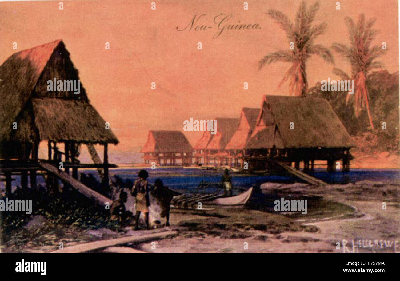 Deutsch-Neuguinea . before 1908 169 Neuguinea - Stock Image