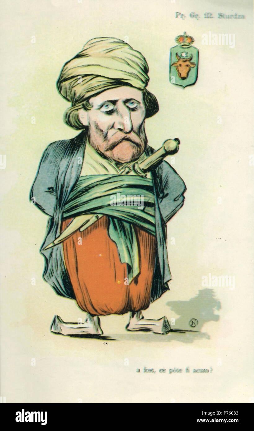 Român: Grigore Sturdza (caricatur din Albumul Contemporani). A fost, ce poate fi acum . 1898 171 NSPetrescuGaina - Printul Grigore M Sturdza Stock Photo