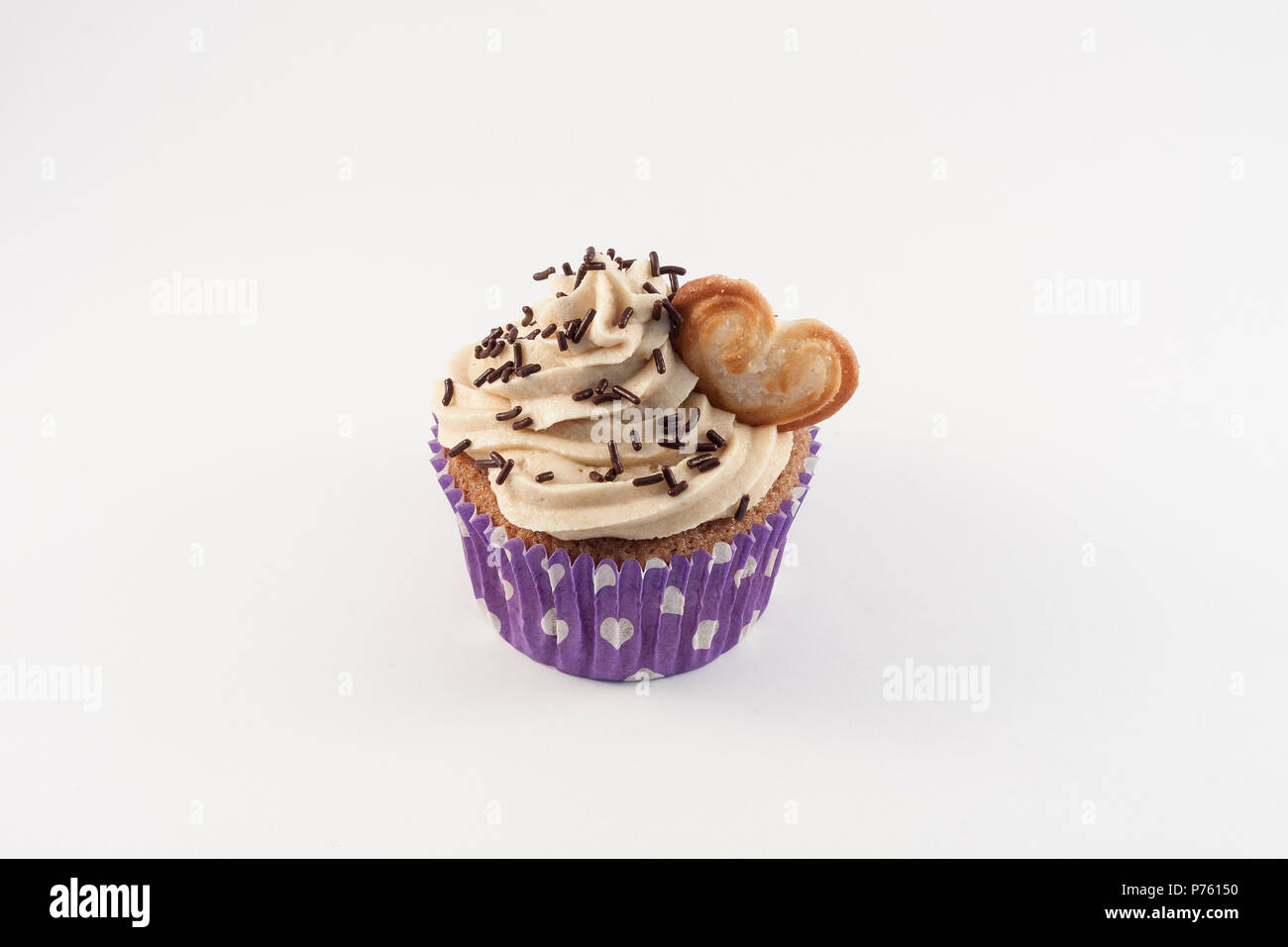 cupcake isolated on white background - Stock Image