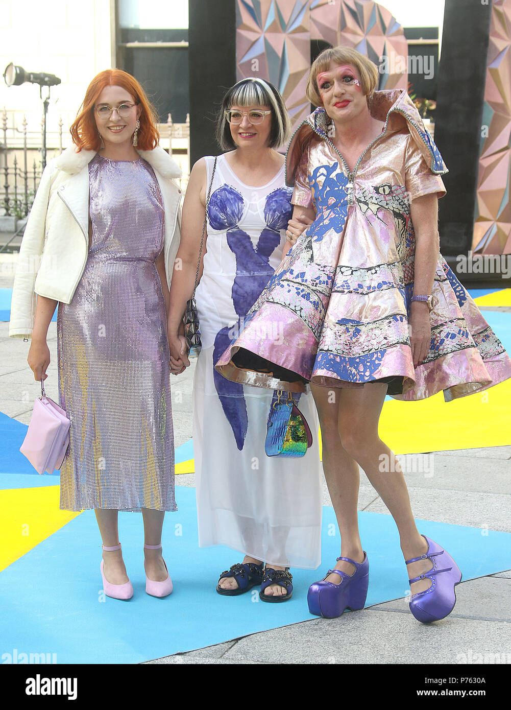 Jun 06, 2018 - Florence Perry, Philippa Perry and Grayson Perry attending Royal Academy Of Arts 250th Summer Exhibition Preview Party at Burlington Ho - Stock Image