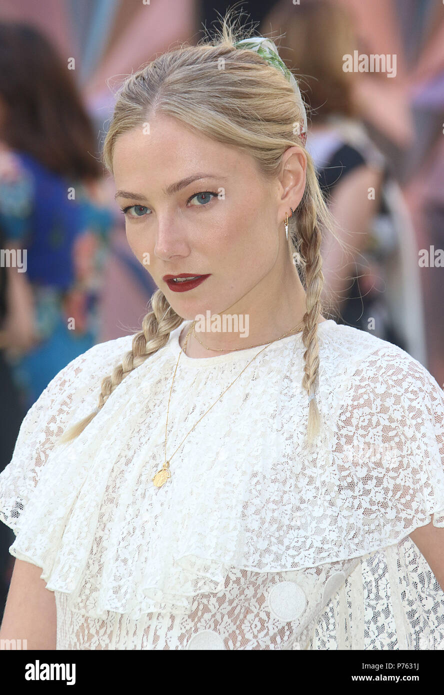 Jun 06, 2018 - Clara Paget attending Royal Academy Of Arts 250th Summer Exhibition Preview Party at Burlington House in London, England, UK - Stock Image