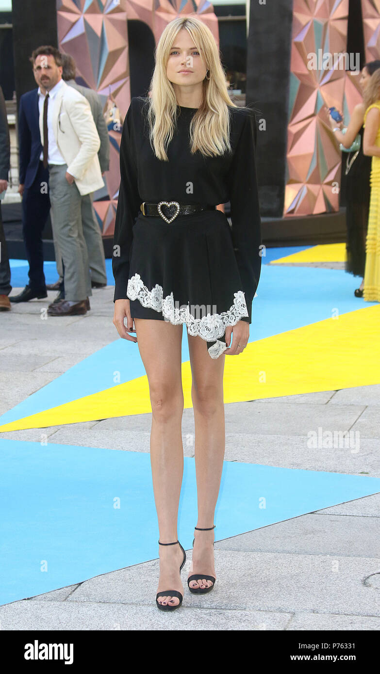 Jun 06, 2018 - Gabriella Wilde attending Royal Academy Of Arts 250th Summer Exhibition Preview Party at Burlington House in London, England, UK - Stock Image