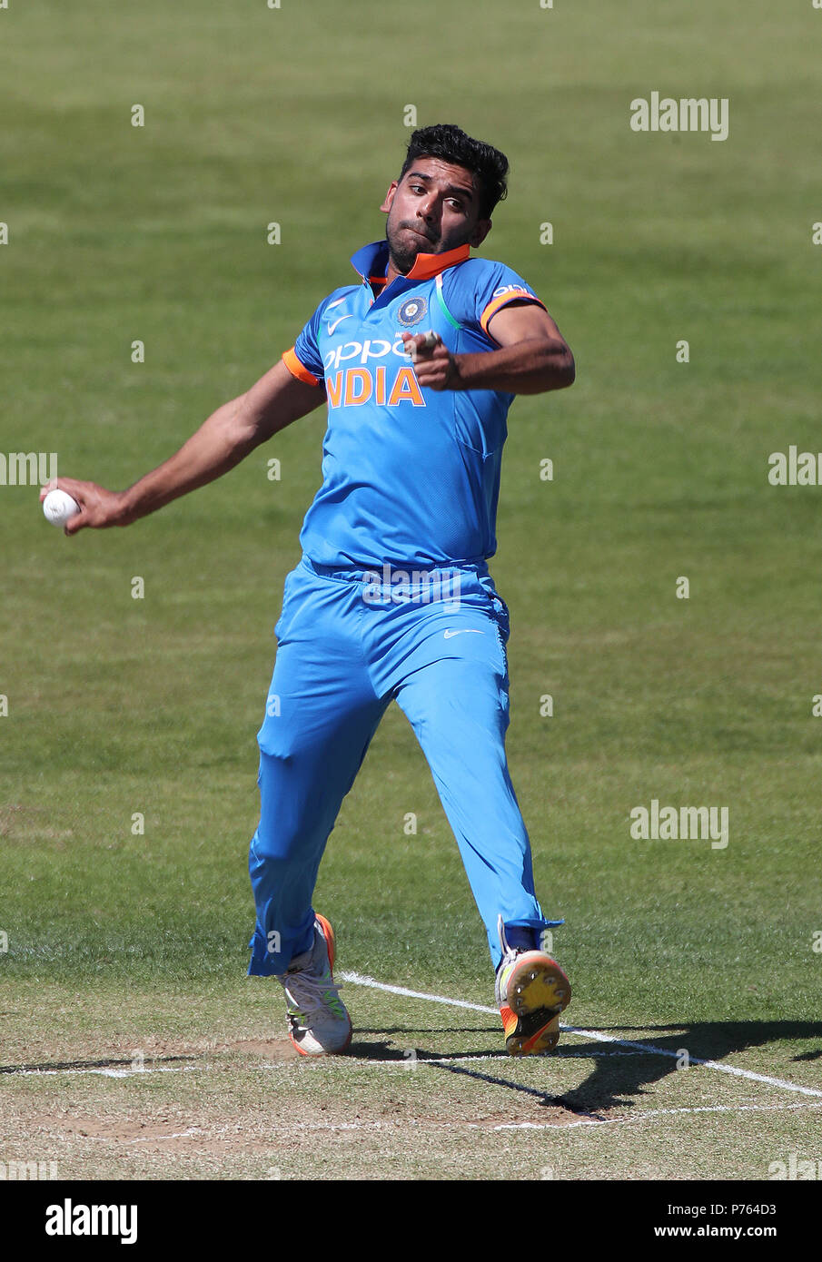 India A's Deepak Chahar during the one day tour match at the The