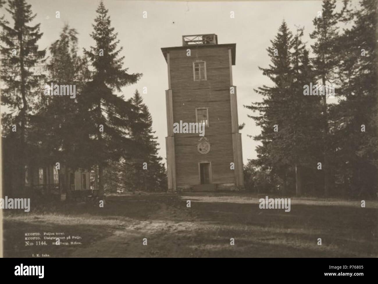 English: Oldest Puijo tower in Kuopio, Finland Suomi: Puijon vanhin torni Kuopiossa . 1893 (before 1931) 183 Puijo2 Stock Photo