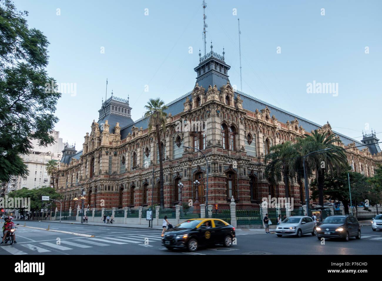 Exterior of the Water Company Palace in Avenida Cordoba, Barrio Norte, Buenos Aires Stock Photo