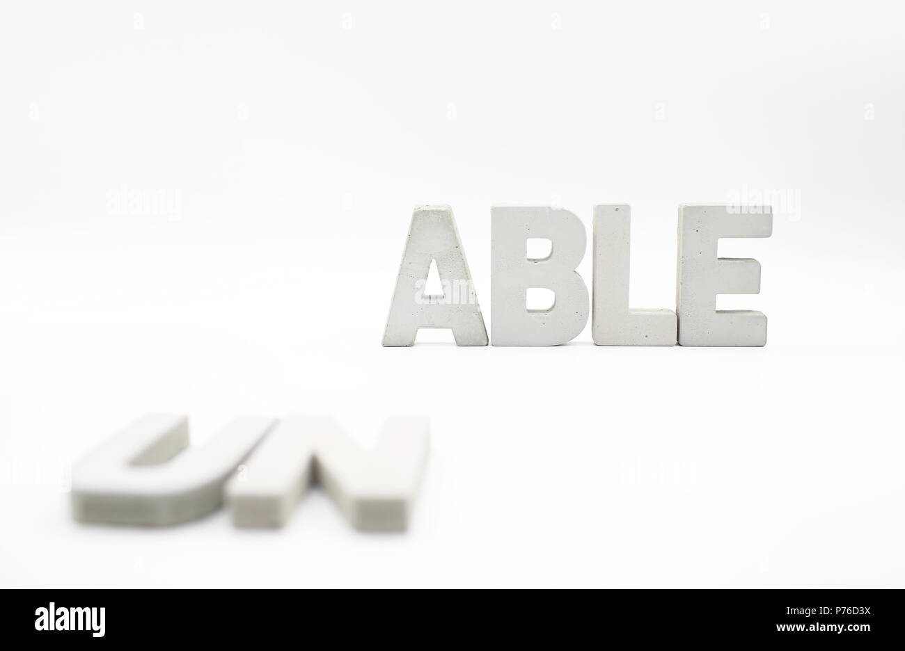 unable word block - Stock Image
