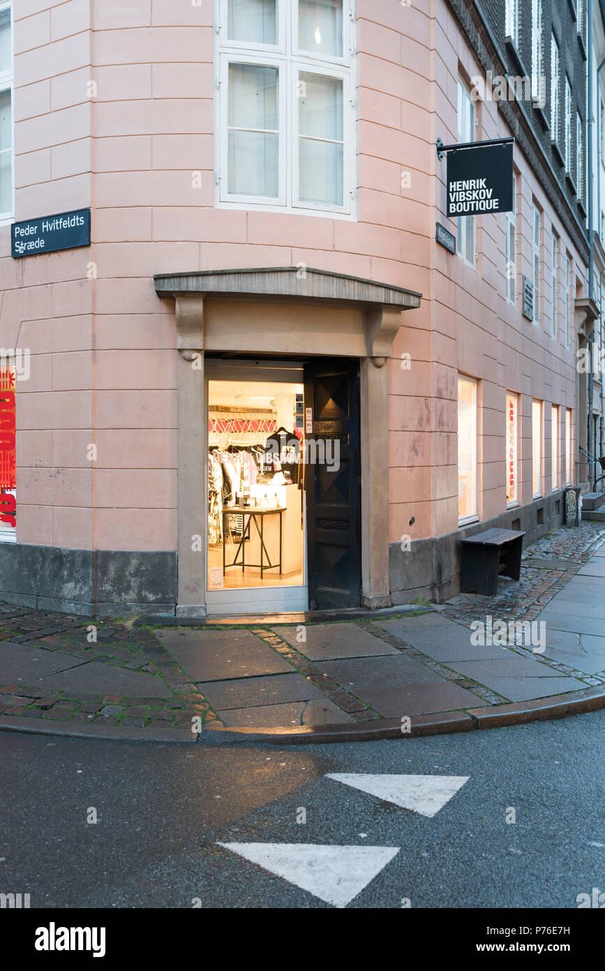 Henrik Vibskov store Copenhagen - Stock Image