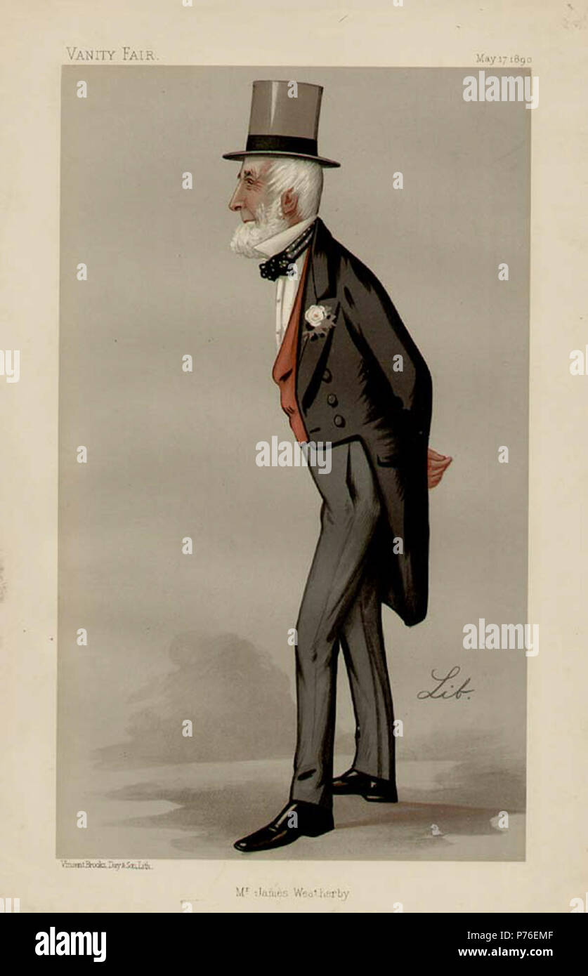 Caricature of Mr James Weatherby. 1890 228 James Weatherby Vanity Fair 1890-05-17 Stock Photo