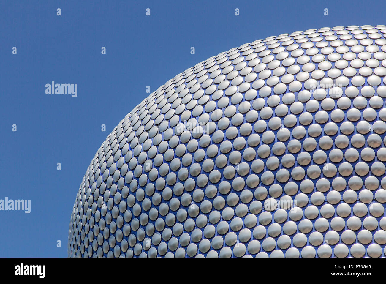 Birmingham, UK: June 29, 2018: Selfridges is one of Birmingham city's most distinctive and iconic landmarks it is part of the Bullring Shopping Centre - Stock Image