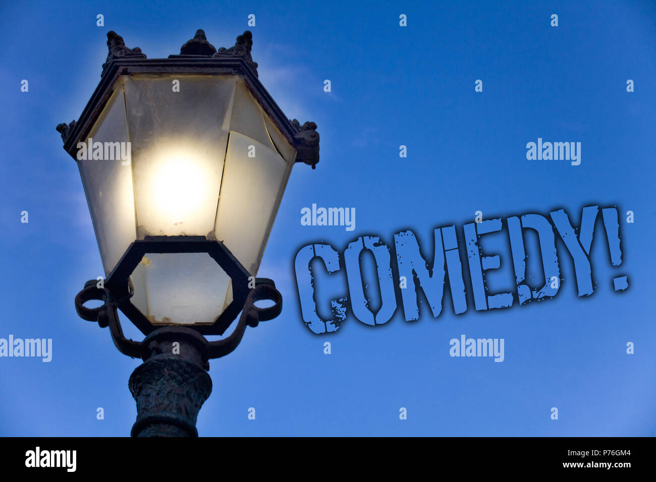Text Sign Showing Comedy Call Conceptual Photo Fun Humor Satire