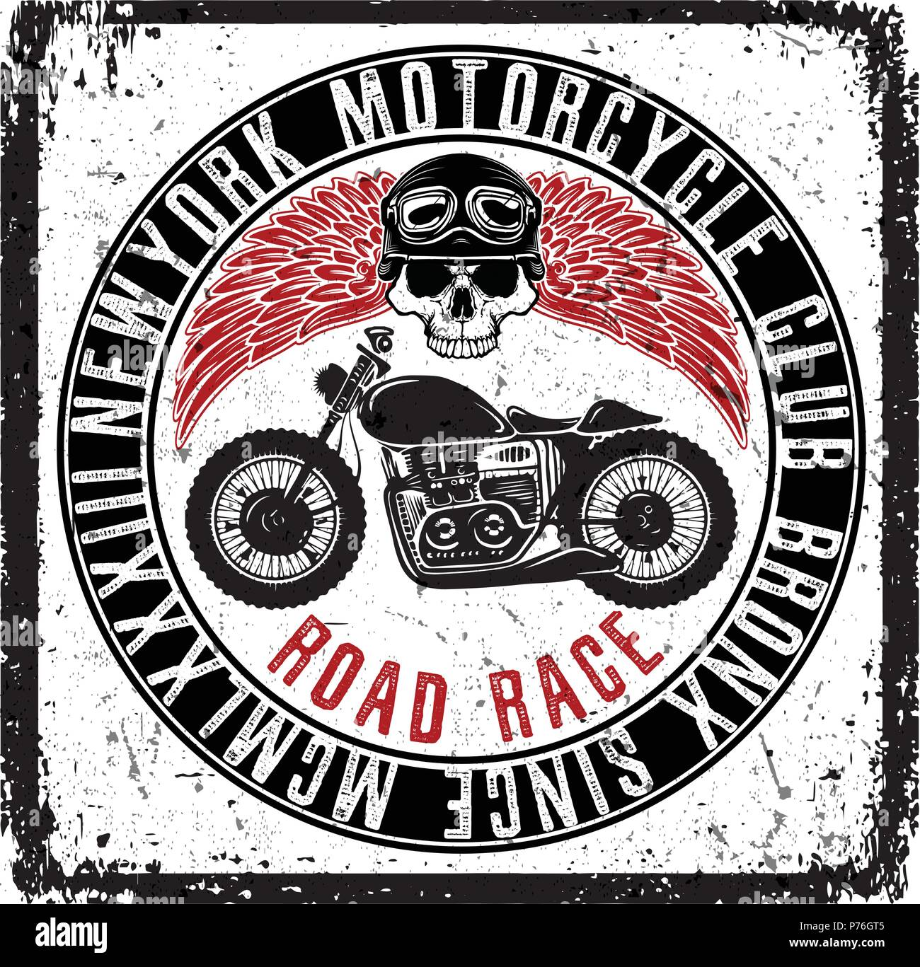 Vintage Motorcycle Poster T Shirt Graphic Design Stock