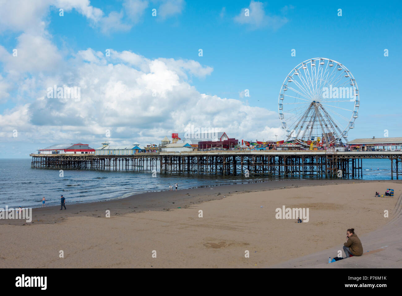 Central Pier in Blackpool, Lancashire. - Stock Image