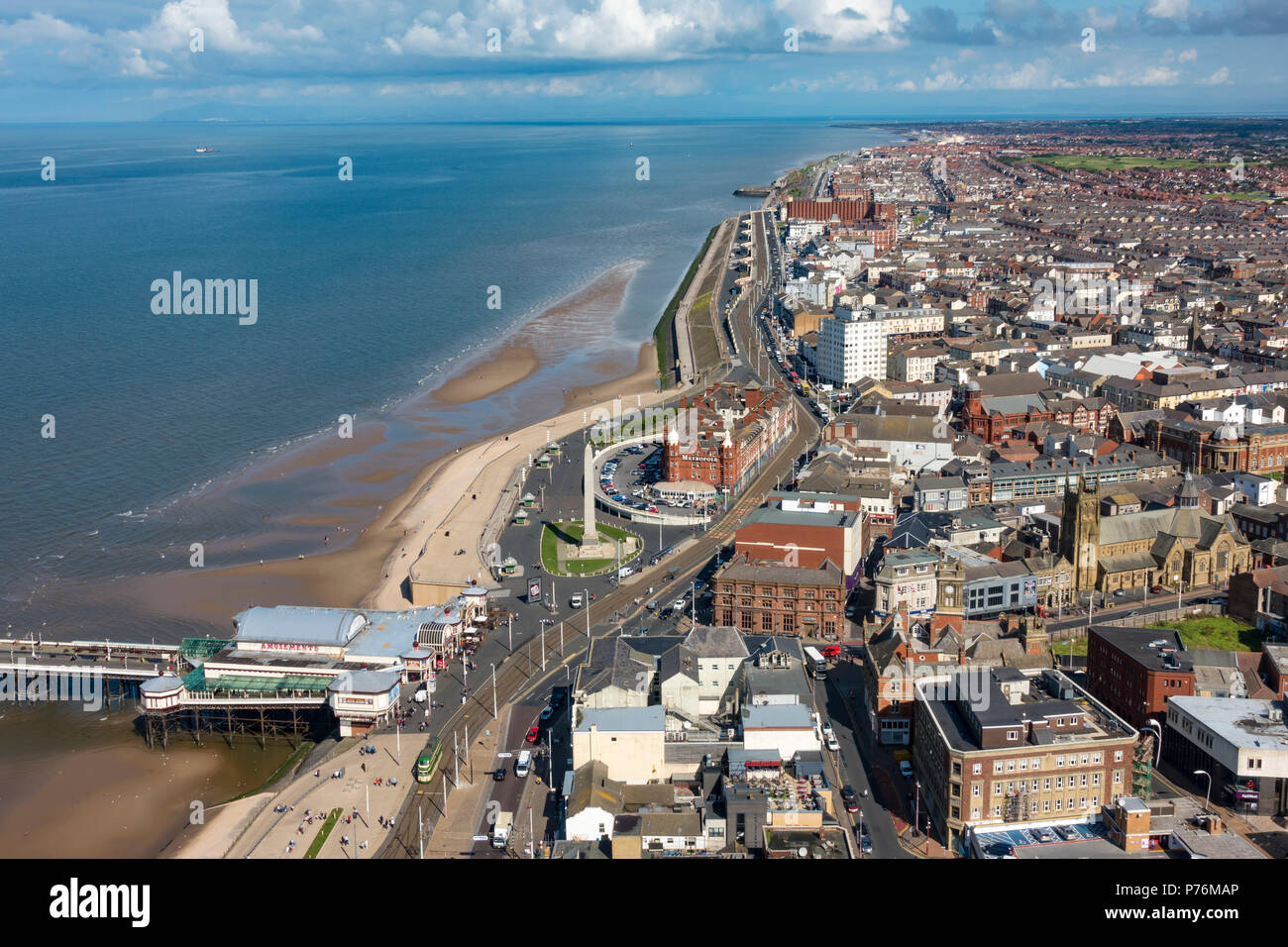 View from the top of Blackpool Tower - Stock Image